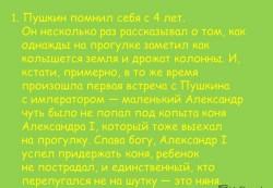 Интересные факты о Пушкине