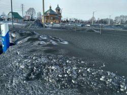 Кузбасс завалило черным снегом