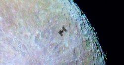 МКС прошла по краю Луны: видео
